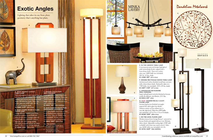 Lamps Plus Catalog Layouts
